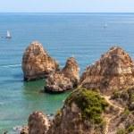 Ponta da Piedade, rock formations near Lagos in Portugal — Stock Photo #55854303