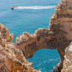 Ponta da Piedade, rock formations near Lagos in Portugal — Stock Photo #55854333
