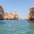 Rock formations near Lagos seen from the water — Stock Photo #56440913