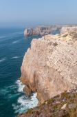 Cliff shore of Cape St Vincent in Portugal — Стоковое фото