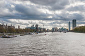 Skyline of London on a cloudy day — Stock Photo