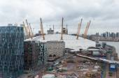 The O2 Arena in London on a rainy day — 图库照片