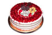 Sixtieth wedding anniversary cake — Stock Photo
