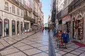 Ferreira Borges Street in downtown Coimbra — Stock Photo