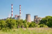 Chimneys of coal power plant — Stock Photo