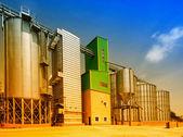 Grain silos — Stockfoto