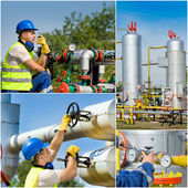 Oil industry collage — Stock Photo