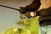 Vara de pesca — Fotografia Stock