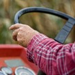 Driving tractor — Stock Photo #57470011