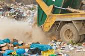 Container on the dump — Stock Photo