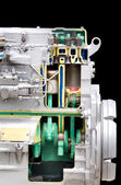 Diesel engine section — Stock Photo