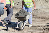 Construction barrow with concrete — Stock Photo