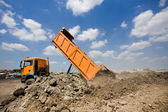 Truck tipping ground — Stock Photo