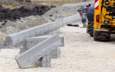 Kerbs at road construction site — Stock Photo