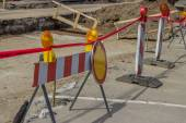 Street reconstruction and improvement 2 — Stock Photo