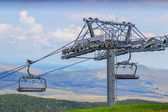 Ski lift on on the top of mountain 2 — Stockfoto