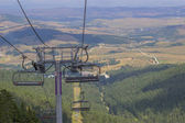 Ski lift on on the top of mountain 3 — Photo