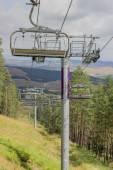 Ski lift on on the top of mountain 4 — Stock Photo