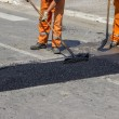 City crew install a new speed bump 4 — Stock Photo #54111187