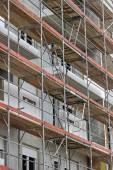 Exterior of building facade and walls under construction — Stock Photo