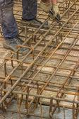 Ironworker install rebar 4 — Stock Photo