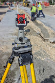 Total station prism 2 — Stock Photo