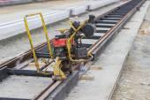 Grinding rail machine — Stock Photo