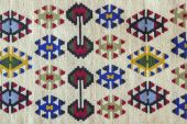 Beautiful and multy coloured Pirot kilim — Stock Photo