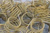 Rusty twisted iron rod — Stock Photo