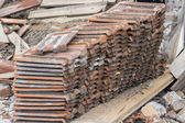 Pile of old used roof tiles — Stock Photo
