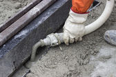 Grouting mortar and tram track laying 2 — Stock Photo