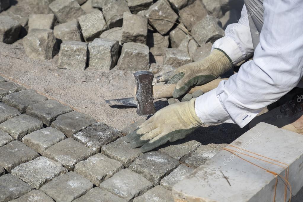 Colocaci n adoquines piedra de granito natural en arena - Precio de adoquines de granito ...