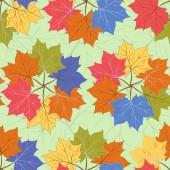 Seamless autumnal pattern — Stock Vector