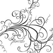 Swirling floral ornament — Stock Vector