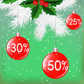 Рождественская продажа — Cтоковый вектор