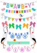 Set bambino bunting — Vettoriale Stock