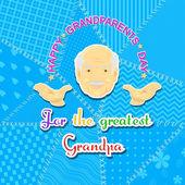 祖父和祖母的一天 — 图库矢量图片
