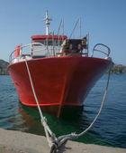 Czerwony łódź — Zdjęcie stockowe