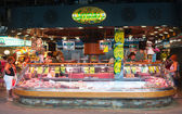 Colorful market stalls — Stock Photo