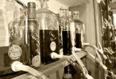 Mallorquin oils and vinegars — Stock Photo