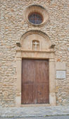Detail door and cross Sant Crist church — Stock Photo