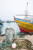 Fishing boats in Tangalle port — ストック写真