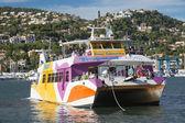 Glass bottom boat in Puerto Andratx — Stock Photo