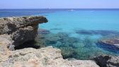 Turkusowe morze śródziemne — Zdjęcie stockowe