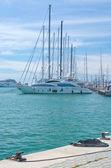 Segelboote vor Anker — Stockfoto