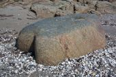 Gneiss rock shaped by the Ice age — Stock Photo