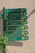 Valldemossa ulicy znaki — Zdjęcie stockowe