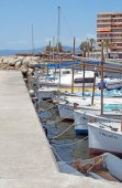 Moored boats in Cala Estancia — Stock Photo