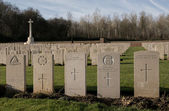 Military Grave Yard in France (world war one) — Stock Photo