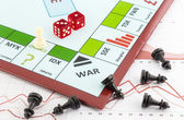 Stock exchange board game — Stock Photo